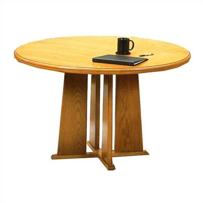 "Lesro Contemporary Series 36"" Round Gathering Table with Radius Profile (Tapered Base)"