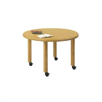 "Lesro Contemporary Series 48"" Round Gathering Table with Radius Profile (4 Post Base with Casters)"