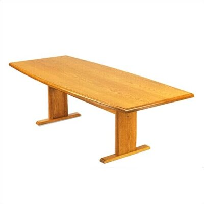 "Lesro Contemporary Series 120"" Boat Style Conference Table (Trestle Base)"