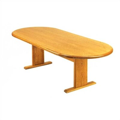 "Lesro Contemporary Series 96"" Oval Conference Table with Radius Profile (Curved Panel Base)"