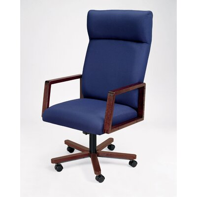 Lesro Bristol Series High-Back Guest Chair with Arms
