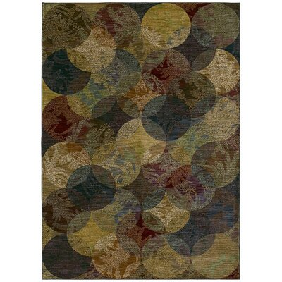 Tommy Bahama Rugs Home Nylon Calypso Night Multi-Colored Rug