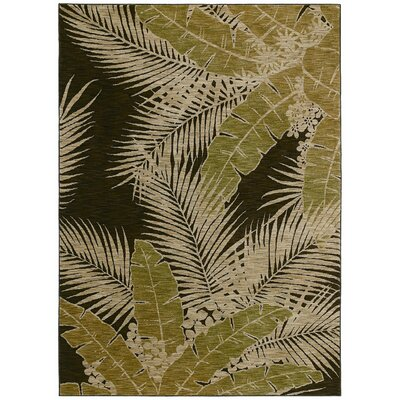 Tommy Bahama Rugs Home Nylon Dark Brown Carnival Palms Rug