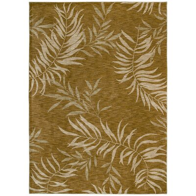 Home Nylon Florist Greens Gold Rug