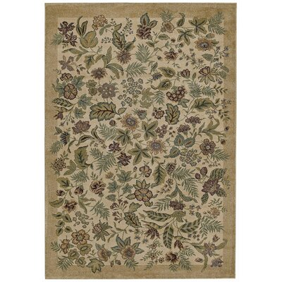 Tommy Bahama Rugs Home Olefin Garden Bloom Beige Novelty Rug