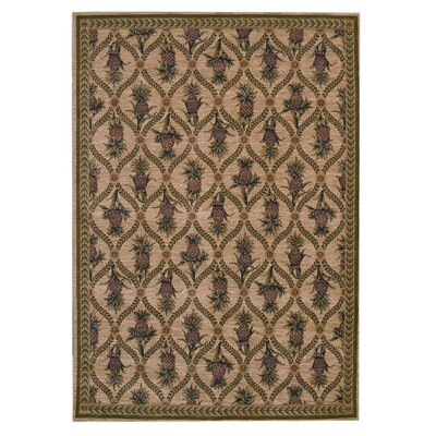 <strong>Tommy Bahama Rugs</strong> Home Nylon Lotsa Pineapples White Novelty Rug