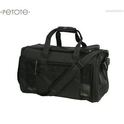 Petote Carle Pet Carrier in Ballistic Black