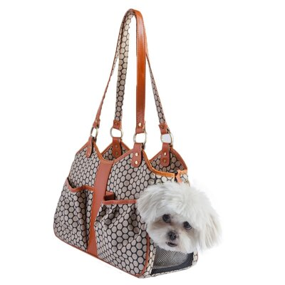 Petote Metro Leather Trim Dog Carrier