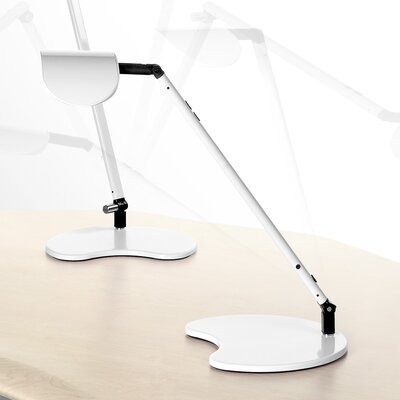 "Workrite Ergonomics Ergonomics Astra Single Arm LED Task Light 16.75"" H Table Lamp"