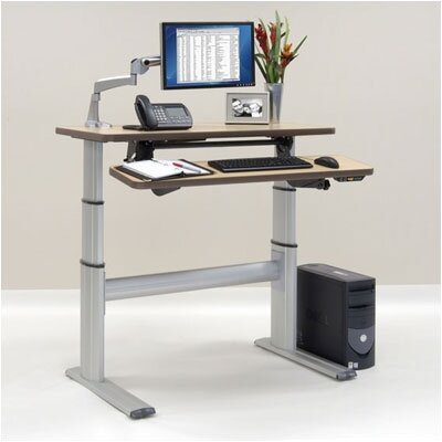 Workrite Ergonomics Sonoma Series Premium Dual Surface Rectangle Desk with Laptop Station (Height-Adjustable)