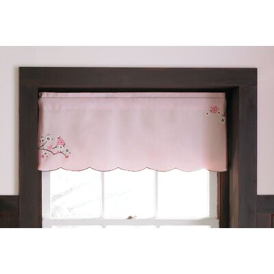 MiGi Pink Blossom Rod Pocket Scalloped Curtain Valance