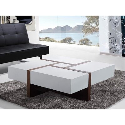 Evora Modern Coffee Table with 4 Drawers