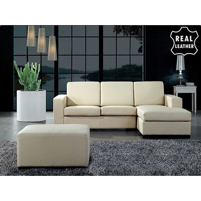 Beliani Malmo 3 Piece Leather Living Room Set