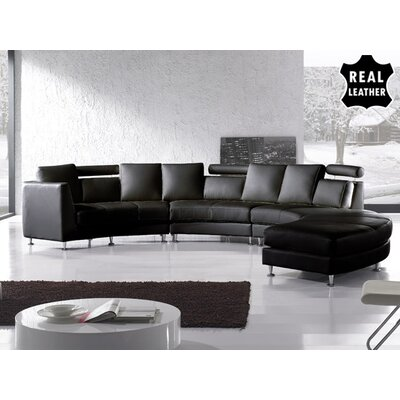Beliani Rotunde 4 Piece Leather Circular Living Room Set