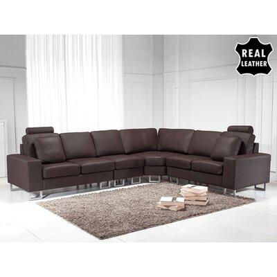 Beliani Stockholm Leather Stationary Sectional
