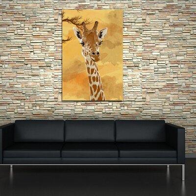 Maxwell Dickson Giraffe Painting Print on Canvas