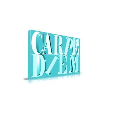 """Maxwell Dickson """"Carpe Diem"""" Textual Art on Canvas"""