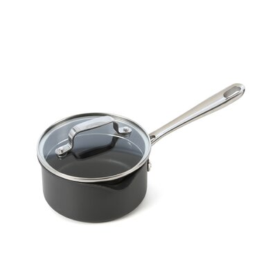 Hard-Anodized Saucepan with Lid