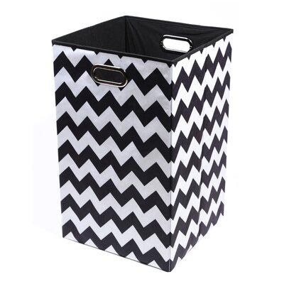 Modern littles bold chevron folding laundry basket amp reviews wayfair