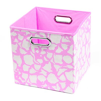 Modern Littles Rose Giraffe Folding Storage Bin