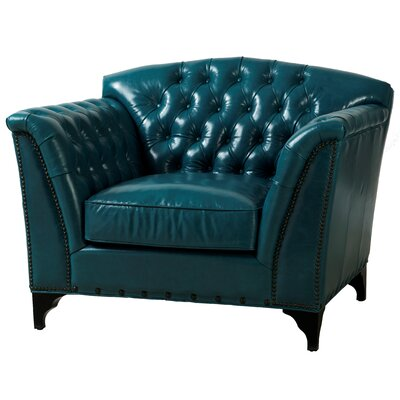 TOV Furniture Peacock Leather Club Chair