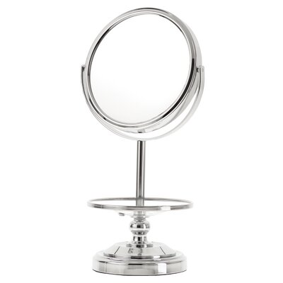 Chrome Mirror Vanity with Jewelery Stand (10x Mag & True Image)