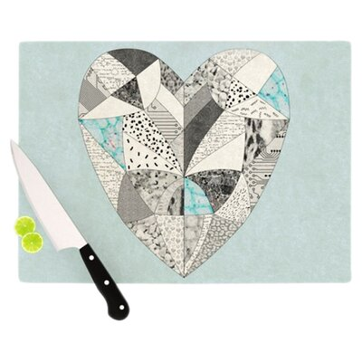 KESS InHouse Comheartment Cutting Board