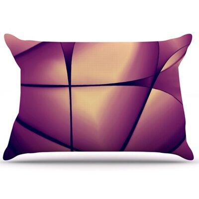 KESS InHouse Paper Heart Pillowcase
