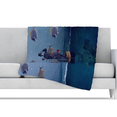 KESS InHouse The Voyage Fleece Throw Blanket