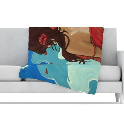 KESS InHouse Sea Swept Fleece Throw Blanket