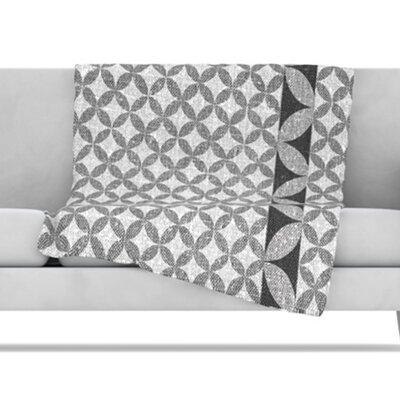 KESS InHouse Diamond Fleece Throw Blanket