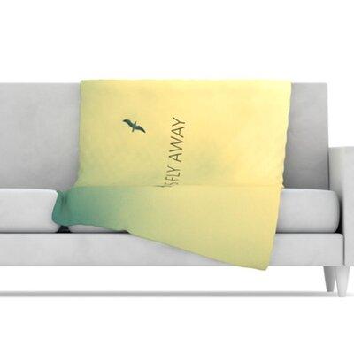 KESS InHouse Let's Fly Away Fleece Throw Blanket