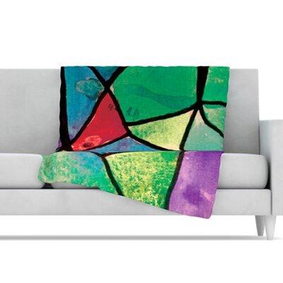 KESS InHouse Stain Glass 1 Fleece Throw Blanket