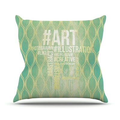 KESS InHouse Hashtag Throw Pillow