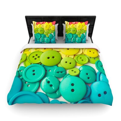 KESS InHouse Cute As A Button Duvet Cover Collection