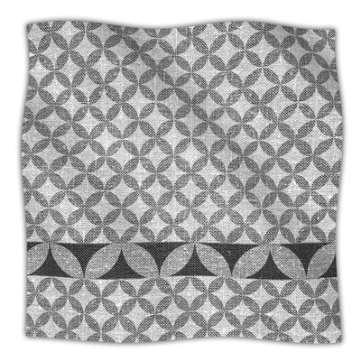 KESS InHouse Diamond Black Microfiber Fleece Throw Blanket