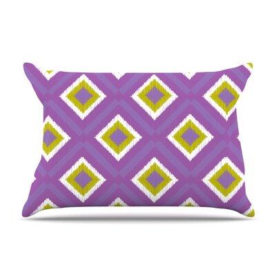KESS InHouse Purple Splash Tile Pillow Case