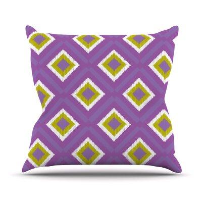 KESS InHouse Purple Splash Tile Throw Pillow