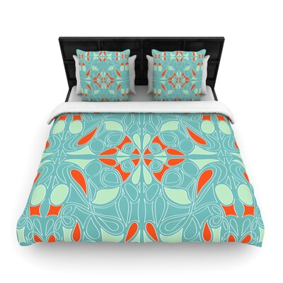 KESS InHouse Seafoam and Orange Duvet Cover Collection