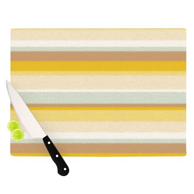 KESS InHouse Desert Stripes Cutting Board