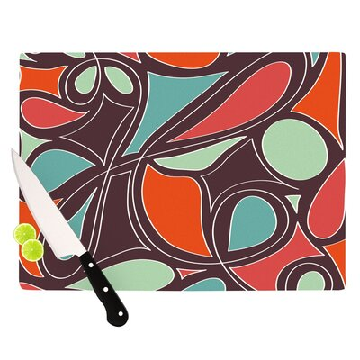 KESS InHouse Retro Swirl Cutting Board
