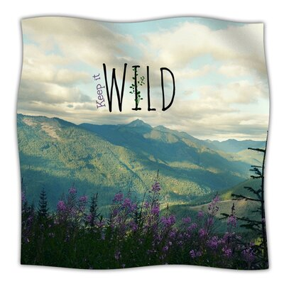 KESS InHouse Keep It Wild Microfiber Fleece Throw Blanket