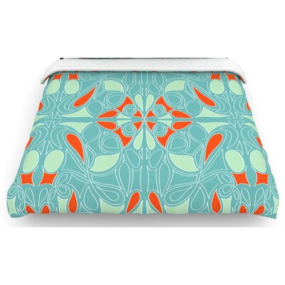 "KESS InHouse ""Seafoam and Orange"" Bedding Collection"
