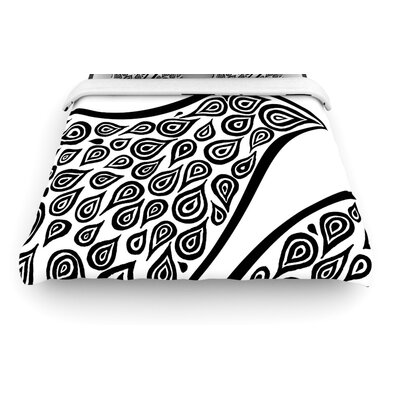 "KESS InHouse ""Bird in Disguise White"" Woven Comforter Duvet Cover"