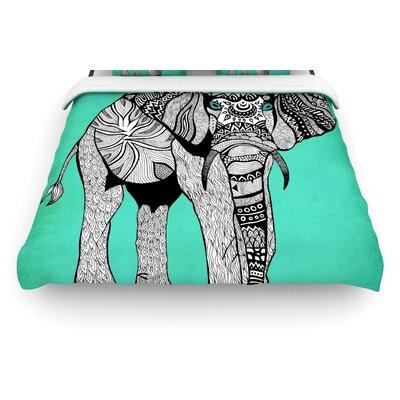 """KESS InHouse """"Elephant of Namibia"""" Woven Comforter Duvet Cover"""