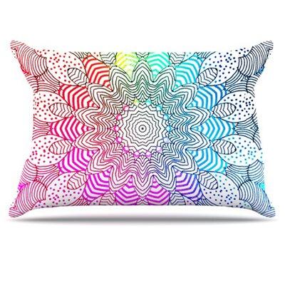 KESS InHouse Rainbow Dots Pillowcase