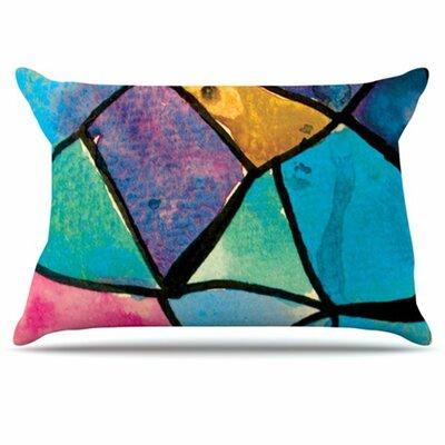 KESS InHouse Stain Glass 2 Pillowcase