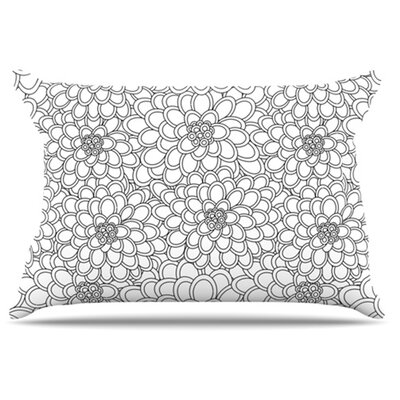 KESS InHouse Flowers Pillowcase