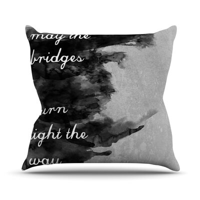 KESS InHouse Bridges Throw Pillow