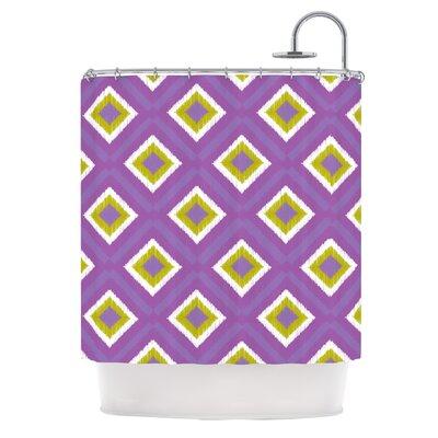 KESS InHouse Purple Splash Tile Polyester Shower Curtain